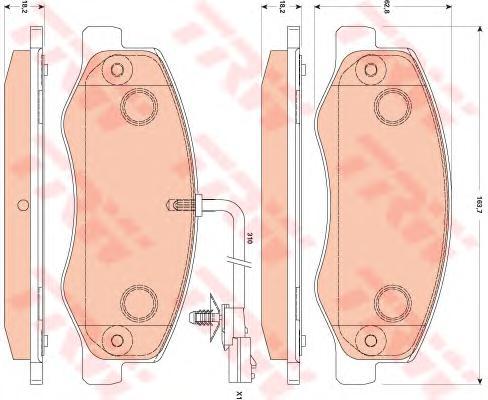 GDB1885 Колодки тормозные OPEL MOVANO/RENAULT MASTER 10- задние (сдвоен.шины)