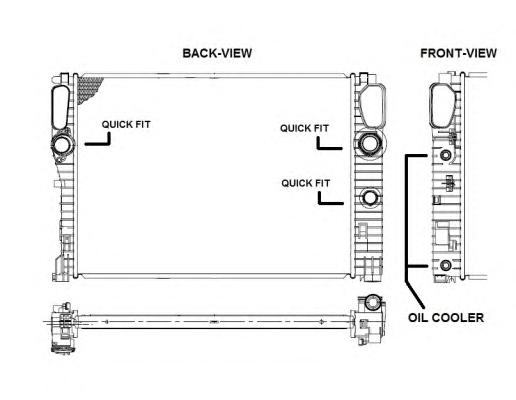 53422 Радиатор MB E(W211) 02-