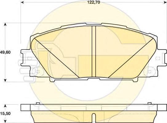 6141739 Колодки тормозные TOYOTA PRIUS 1.8 09-/LEXUS CT 1.8 11- передние