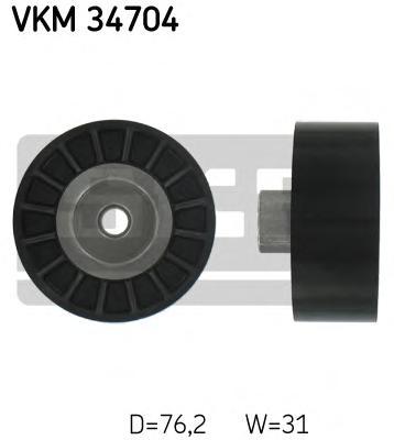 VKM34704 Ролик ремня приводного FORD TRANSIT 2.4D/3.2D 06-