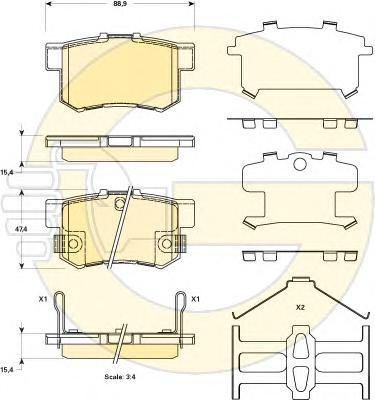6135169 Колодки тормозные SUZUKI SX4/SWIFT 1.6 06- задние