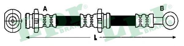 6T47930 Шланг тормозной NISSAN PRIMERA (P11) 96-02 с АБС задний левый