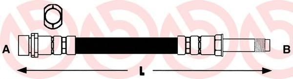T50032 Шланг тормозной MB/VW SPRINTER/LT М10х1х363mm пер.
