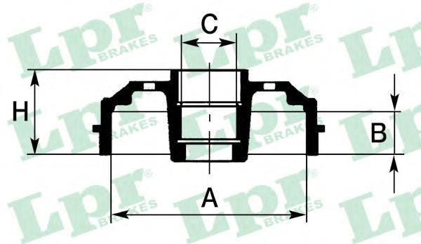 7D0153 Барабан тормозной CITROEN SAXO 1.0/1.1 96-03/PEUGEOT 206 1.1-2.0 98-