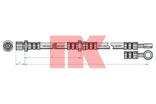854402 Шланг тормозной SUBARU IMPREZA 92-00/LEGACY 89-98 передний правый