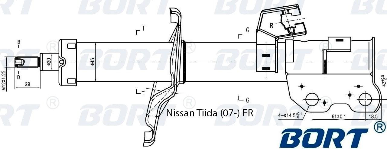 g22045115r Стойка амортизационная газомасляная передняя правая