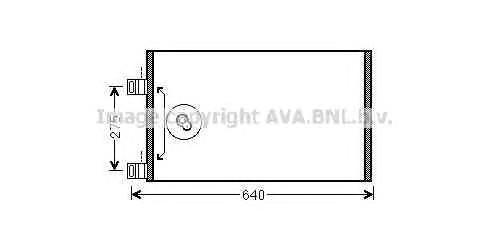 RTA5444 Конденсер RENAULT KANGOO 1.5 DCI / 1.6 08-