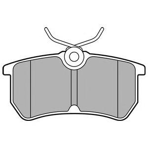 LP2480 Колодки тормозные FORD FOCUS 9805/FIESTA 12- задние