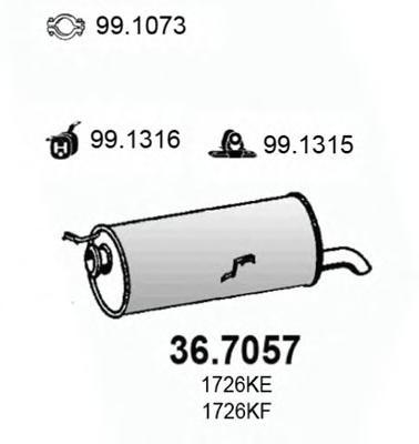 367057 Глушитель выхлопных газов конечный