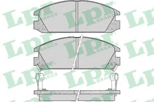 05P073 Колодки тормозные HONDA ACCORD 85-89 передние