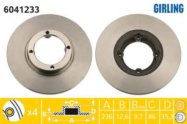 6041233 Диск тормозной CHEVROLET SPARK 05-/DAEWOO MATIZ 98- передний