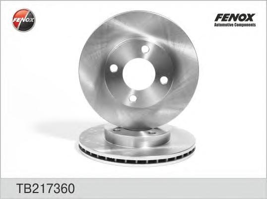 TB217360 Диск тормозной AUDI 80 86-91/90 87-91/100 77-91 передний вент.