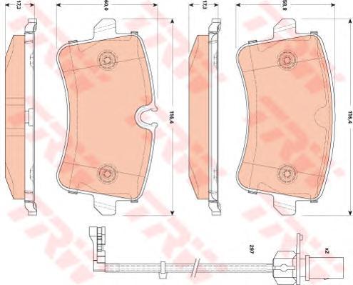 GDB1866 Колодки тормозные AUDI A8 3.0-6.3 09- задние