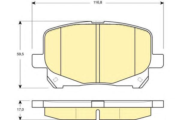 6132489 Колодки тормозные TOYOTA CAMRY/PREVIA 2.2-3.0 96-/LEXUS RX300 00-03 передние