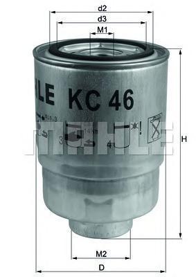 KC46 Фильтр топливный MITSUBISHI PAJERO/L200 2.5D/HYUNDAI PORTER/H-1 2.5D