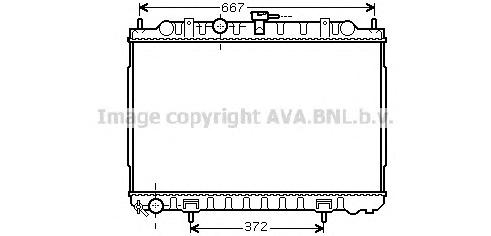DN2238 Радиатор NISSAN X-TRAIL 2.0/2.5 01-07