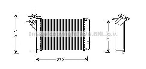 BW6005 Радиатор отопителя BMW E30 1.6-2.5/2.4D 82-94