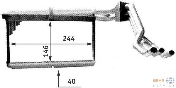 8FH351312771 Радиатор отопителя BMW E32/E34 1.8-4.0 86-97