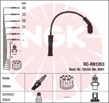 4081 Провода в/в RENAULT LOGAN 1.6 RC-RN1203