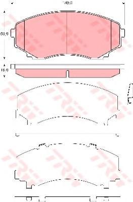 GDB3326 Колодки тормозные MAZDA MPV 99- передние