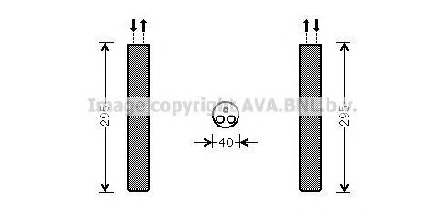 VWD304 Осушитель кондиционера MB SPRINTER/VW CRAFTER 06-
