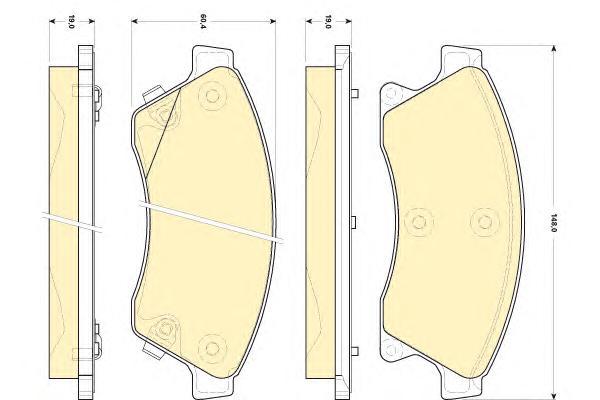 """6118439 Колодки тормозные CHEVROLET CRUZE/OPEL ASTRA J 15"""" 10- передние"""