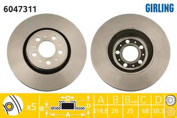 6047311 Тормозной диск