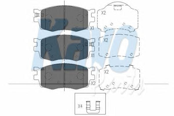 KBP3022 Колодки тормозные HYUNDAI ACCENT/i20/KIA RIO 05- передние