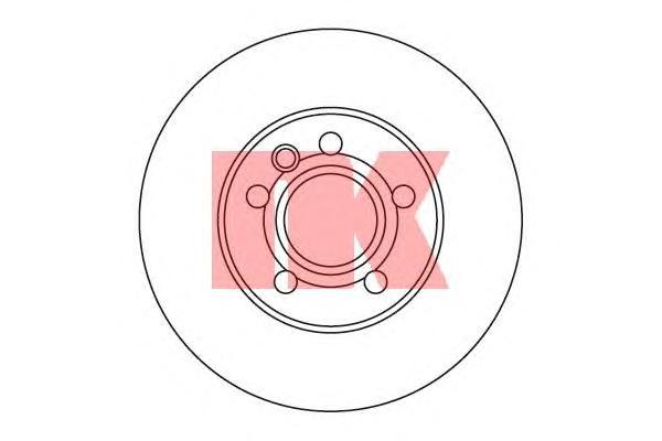 204768 Диск тормозной передний / VW Transporter T-4 2.5/2.5TD/2.8 VR6 (24.0-280) 96~