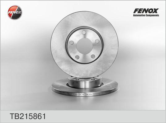 TB215861 Диск тормозной AUDI A100 9095/A4 9500/A6 9497 передний не вент.