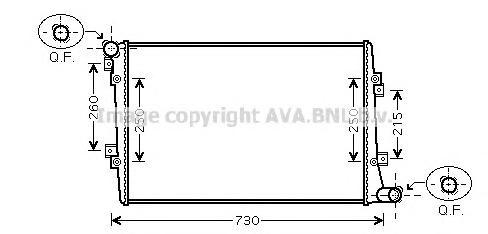 VWA2255 Радиатор VAG A3/G5/OCTAVIA/CADDY/PASSAT 1.9TD 03-