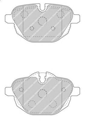 FDB4376 Колодки тормозные BMW 5 F10/F11/X3 F25/Z4 E89 2.0-3.0 10- задние