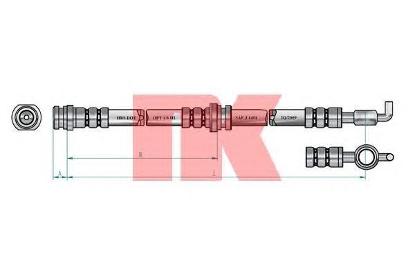 853253 Шланг тормозной MAZDA MPV 95-99 передний