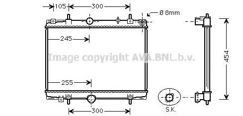PEA2198 Радиатор CITROEN C5 2.0D 95-05