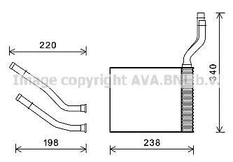 fd6464 Радиатор отопителя FORD: GALAXY (06-) 1.6 I 16V TURBO (+)