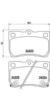 P83073 Колодки тормозные LEXUS GS 3.0-4.6 05-/IS 2.2-2.5 05- задние