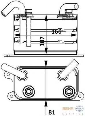 8MO376729631 Радиатор масляный VW T5/MULTIVAN 2.5TD 03-09