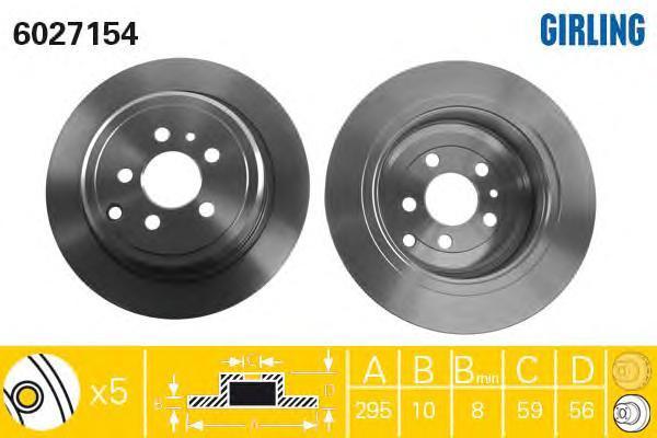 6027154 Тормозной диск