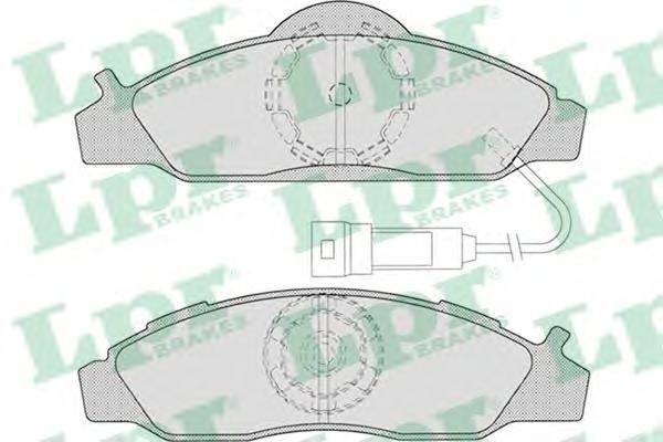 05P721 Колодки тормозные SSANGYONG KORANDO/MUSSO 96- передние с эл.датч.