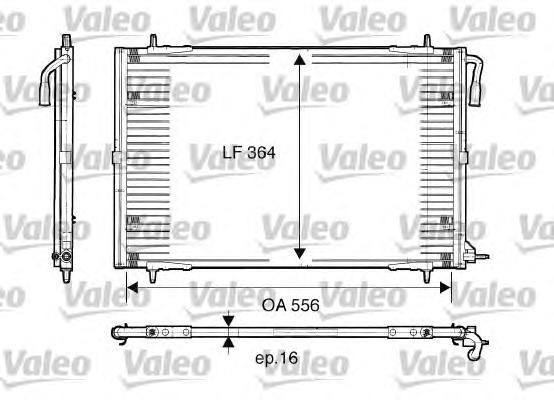 817283 Конденсатор кондиционера PEUGEOT: 206 CC (2D) 1.6 16V/2.0 S16 00-, 206 SW (2E/K) 1.1/1.4/1.4 HDi/1.6 16V/2.0 16V/2.0 HDi