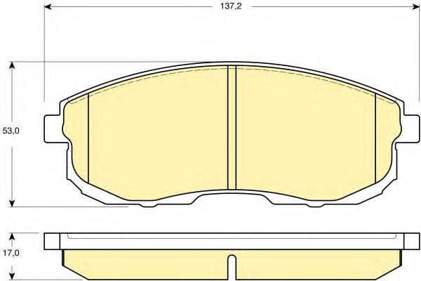 6133909 Колодки тормозные NISSAN JUKE/MAXIMA/TEANA/TIIDA/SUZUKI SX4 перед. б/инд.износа