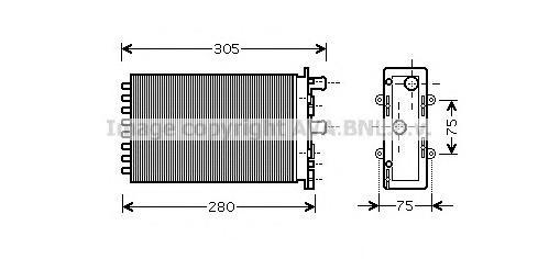 VWA6239 Радиатор отопителя VW T4 2.8/1.9D-2.5D 90-03