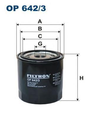 OP6423 Фильтр масляный NISSAN/RENAULT 1.9D-3.0D 08-