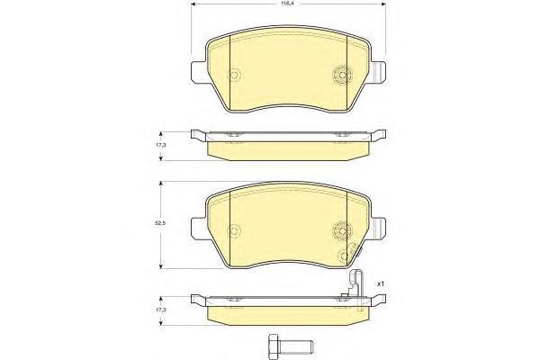 6133961 Колодки тормозные SUZUKI SWIFT 05-/OPEL AGILA 07-/NISSAN MICRA 10- передние