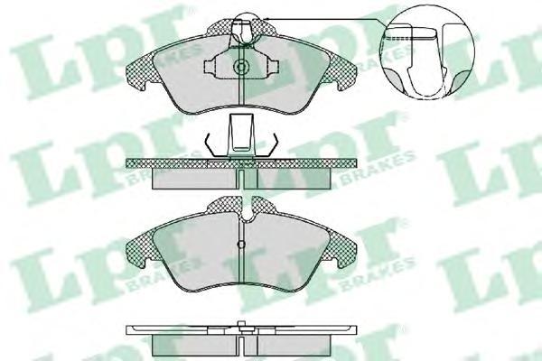 05P1469 Колодки тормозные MERCEDES SPRINTER (901-904) 95-06/VOLKSWAGEN LT 28-46 передние