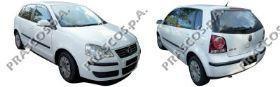 VW0227103 Зеркало в сборе механическое правое, черное / VW Polo 05~09