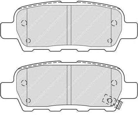 FDB4324 Колодки тормозные NISSAN X-TRAIL/QASHQAI/TIIDA/INFINITI FX/RENAULT KOLEOS задние