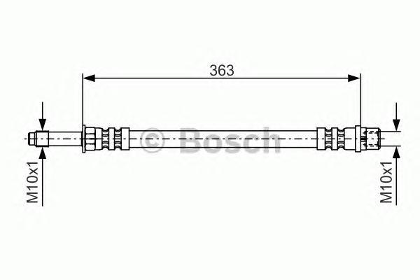 1987476295 Шланг тормозной MB/VW SPRINTER/LT М10х1х363mm пер.