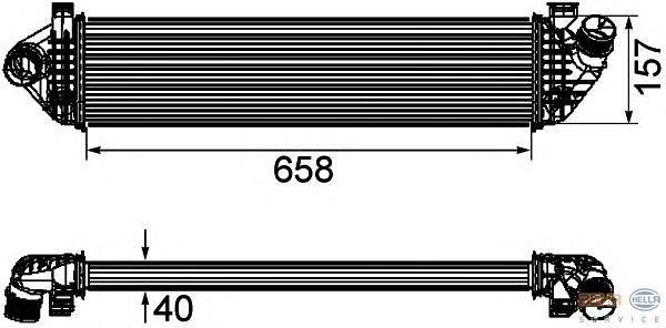 8ML376746581 Интеркулер VOLVO C30/S40 1.6D-2.0D 06-