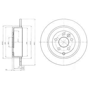 BG4124 Диск тормозной LAND ROVER FREELANDER 2.2SD/TD 06- задний D=302мм.